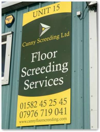 Contact us at Canny Floor Screeding in Luton, Bedfordshire
